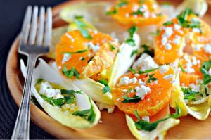Belgian endive with orange salad