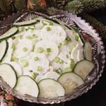 Sour cream cucumber salad
