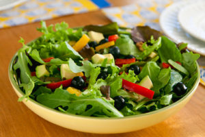 mixed green salad recipe