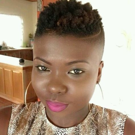 Fade tappered Haircuts for Black Ladies